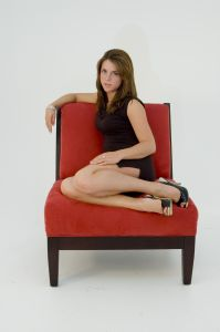 Mujer sexy Sentada