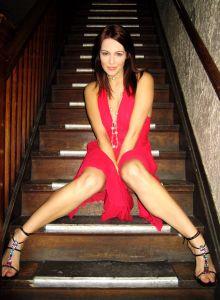 Mujer Sexy de rojo