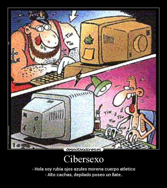 Caricatura sobre Cibersexo